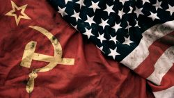 US and Soviet Flags