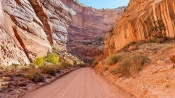 Road through canyon