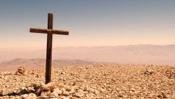 Cross in Desert