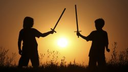 Children with Play Swords