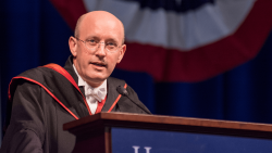 Michael Ward gives the commencement speech